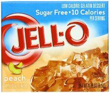 Jell-O Sugar-Free Gelatin Dessert, Peach, 0.30 oz Boxes (24Pack) Healthy Snack