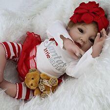 "Silicone Reborn Baby Lifelike Girl Doll Lil Helper Baby Alive Stuffed Body 22"""