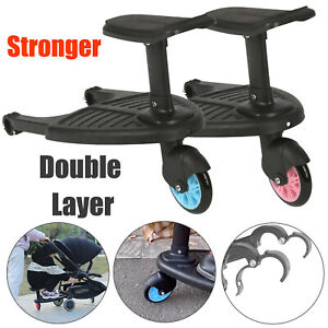 Buggy Stroller Step Board Stand Wheeled Pushchair Connector Toddler Kids Child