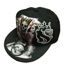OGABEL Men's 2 of a Kind Snapback Hat Black Skull Baseball Cap Skate Streetwear