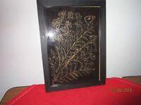 schöne Hinterglasmalerei - Schmetterlinge im Holzrahmen    /S62