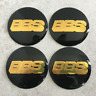 4pcs BBS Car Wheel Center Cap Emblem Badge Stickers Black/Gold 56/60/65/70mm