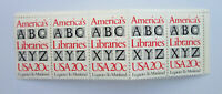 2015 America's Libraries USPS postage stamps 20¢ set of 5
