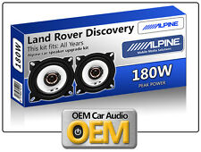 "Land Rover Discovery Front Dash speakers Alpine 10cm 4"" car speaker kit 180W Max"