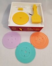 Fisher Price Classic RECORD PLAYER music box Retro 1971 Repro 2014 w/ 3 Records