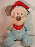 "Disney Parks Mickey Mouse Baby's First 1st Christmas Plush 10"" EUC"