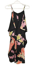 PAUL & JOE PARIS Sz 3 (US L) Silk Charmeuse Floral Koi Print Sleeveless Dress