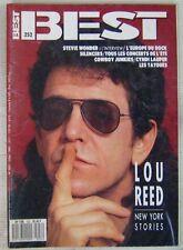 Revue BEST Juillet 1989 Lou Reed Stevie Wonder Cyndi Lauper