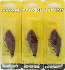 (3) Booyah Bait Company 1/4 Oz One Knocker Crankbaits Ghost Red Craw BYHKK1409