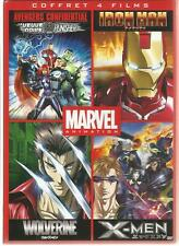 Marvel Animés-Avengers Confidential+Iron Man+Wolverine+X-Men- COFFRET 4 DVD NEUF