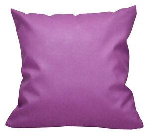 Pc509a Purple Faux Leather Cross Pattern PVC Cushion Cover/Pillow Case*Custom Si