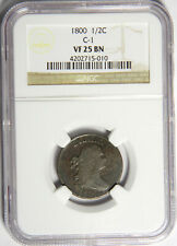 1800 HALF CENT - NGC VF25 C-1 - NICE AND ORIGINAL - PRICED RIGHT!
