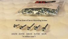 RC Airplane Parts Servo Mounting Screws 5 different size Screws 400 pieces total