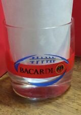 Bacardi Rum tumbler, football glass, sports drinker, bat, 9 oz
