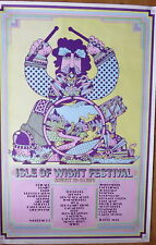 More details for iconic original 1970 'psychedelic drummer' isle of wight festival poster