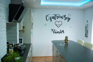 Personalised Family Kitchen Quote Mural Words Home Wood Wall Art Custom