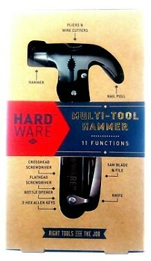 HARDWARE 11 IN 1 HAMMER MULTI FUNCTION TOOL  A MUST HAVE HANDY GADGET  NEW