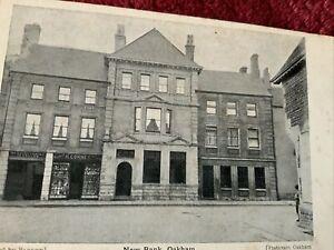 New Bank, Oakham.  &  R. CORNEY Shop, Published by Barlow