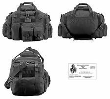 The Humvee Duffel Bag / Bug Out Bag Tactical / Military / Survival Gear - Black