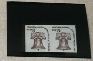 #1618 13 cent Imperf Pair Error Liberty Bell MNH OG