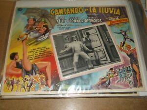 SINGIN' IN THE RAIN(1952)GENE KELLY ORIGINAL MEXICAN LOBBY CARD 12BY16 NICE!