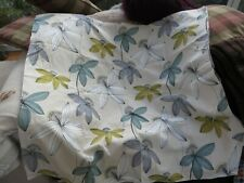 """Pair of pretty Sanderson material lined curtains 44""""w/43"""" l quality"""