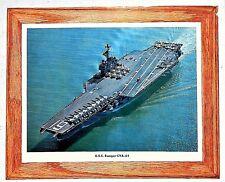Uss Ranger Cva 61 color photo circa 1964 Us Navy attack aircraft carrier