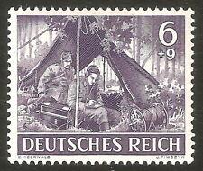 DR Nazi 3rd Reich Rare WW2 Stamp War Scenes Signalman on Front Attack Line Waffe