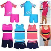 Girl Children Tankini Swimsuit Swimwear Kids Bathing Swimming Surfing Beach Suit