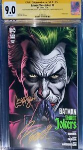 Batman Three Jokers 2 CGC SS 9.0 Signed Johns, Fabok, & Anderson