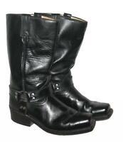 """"""" BUFFALO """" Western- Stiefel / Lederstiefel / Biker- Boots schwarz ca. Gr. 42,5"""