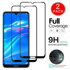 For Huawei Y7 Y6 Y9 Prime 2019 2PCS Full Cover Tempered Glass Screen Protector