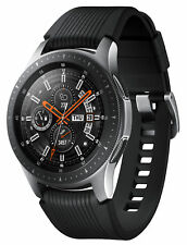 Samsung Galaxy Watch SM-R805 46mm Silber Gehäuse mit Klassisches Armband in Onyx Black - LTE (Telekom Mobilfunk)
