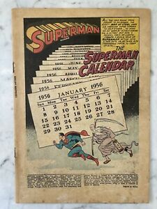 ACTION COMICS #212-SUPERMAN-SPECIAL 1956 CALENDAR ISSUE-COVERLESS-COMPLETE