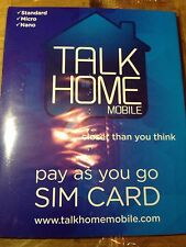 Talk Home Pay As You Go SIM Card Free Ship Gold Number 074 107 64 770