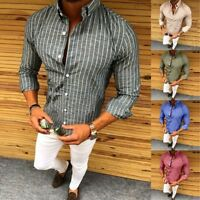 New Mens T Shirt Slim Fit V Neck Muscle Top Long Sleeve Shirts Cotton Gym lot