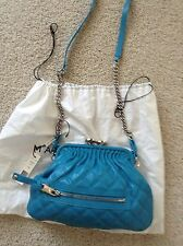 NWT Marc Jacobs Little Stam  Crossbody Bag Turquoise Leather $995
