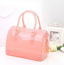 Jelly Women's Handbag Candy Colored Transparent Crystal Bag Girl's Shoulder Bags