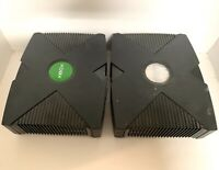 Original Microsoft Xbox Video Gaming Console System Lot of 2 (Jammed Disc Tray)