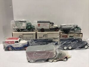 Lot of 7 Ertl Die Cast Sinclair Conoco Oil Gateway RARE Panel truck Car Bank New