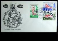 Official FDC European Angling Championships in Gibraltar Issued On 28/Aug/1966