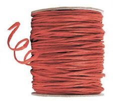 100 mètres cordon raphia laitonné rouge 2.5 mm  decor mercerie loisirs créatifs