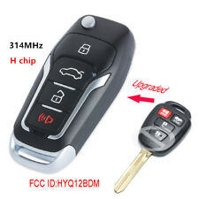 Upgraded Remote Key 314MHz H for Toyota RAV4 Camry Corolla 2014-2016 HYQ12BDM