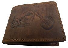 Echt Büffel-Leder Motorrad Geldbeutel Harley II Rustikal Geldbörse Biker Gothic