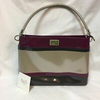 Beijo Classic Above All Else Purse Handbag  Magenta Sky Charcoal Platinum PVC