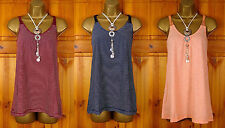 Fat Face Women's Cotton Vest Top, Strappy, Cami Tops & Shirts
