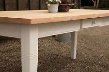 Esstisch Tisch Massivholz Esszimmer Landhaustisch 200 cm mod.01 weiss/natur Neu