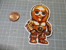 GLOSSY MINI C-3PO Sticker Decal Bumper Laptop Skateboard Phone   NEW
