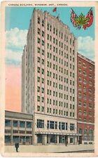 Postcard Canada Windsor Ontario Canada Building 1932