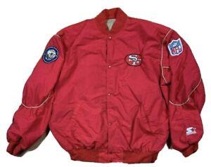 VTG Starter Pro Line San Francisco 49ers NFL Bomber Jacket Men's SZ XL Red Rare
